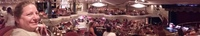 Panorama of the Royal Theater aboard Empress (with my wifey) getting ready