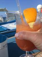 Having drinks watching flowrider