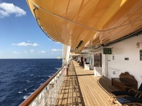 Deck 4, the promenade deck, sea day