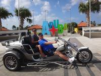 Trike ride in Aruba