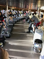 The gym aboard the Carnival Miracle! Weight equipment was in a separate roo