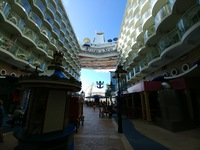 This is a view of the back of the ship. Just is nice with the blue sky and