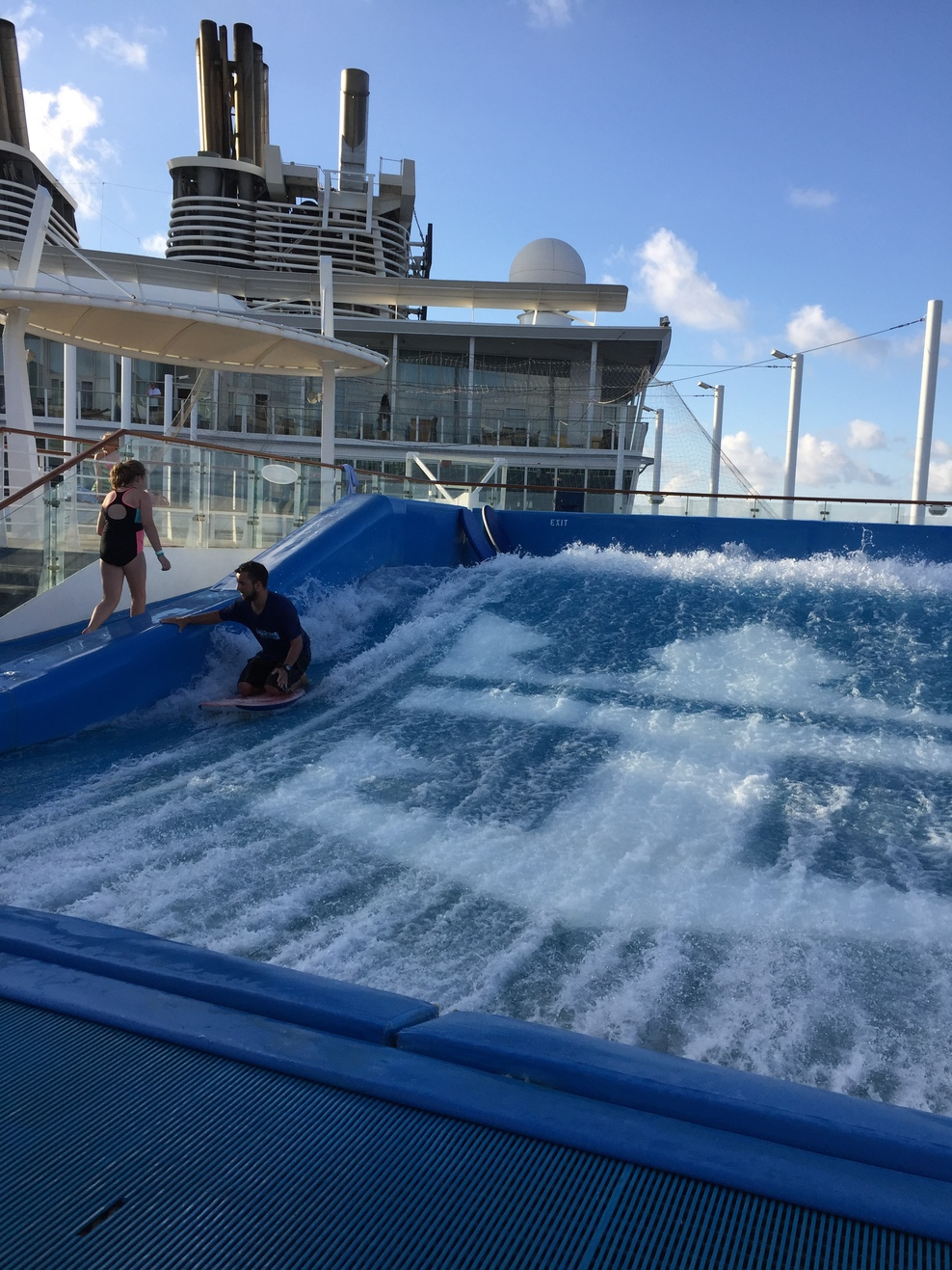 The beach pool on oasis of the seas cruise ship cruise critic -  Flowrider