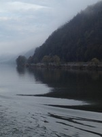 Beautiful foggy view as we cruised the Danube.