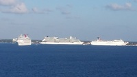 Other ships in port at cozumel