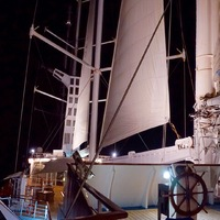 Sails up out of Papeete.