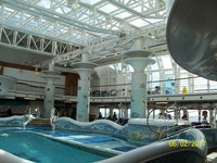 Several pools are on the 14th deck. It was completely sheltered from the weather