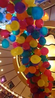 This is a shot of the balloon drop - one of the most colorful moments on bo