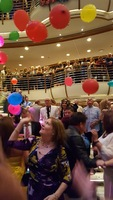 Once the balloons were dropped we kept hitting the balloons to keep them of