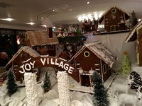 The Gingerbread Village in the Panoramio Lounge on the MS Joy