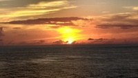Beautiful Caribbean sunset