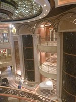 Central atrium on ship