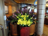 Flower arrangement by Pinnacle Grill