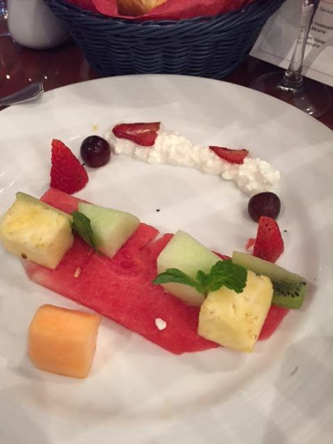 Fruit plate for Sea Brunch