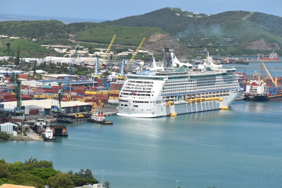 Explorer in port at Noumea