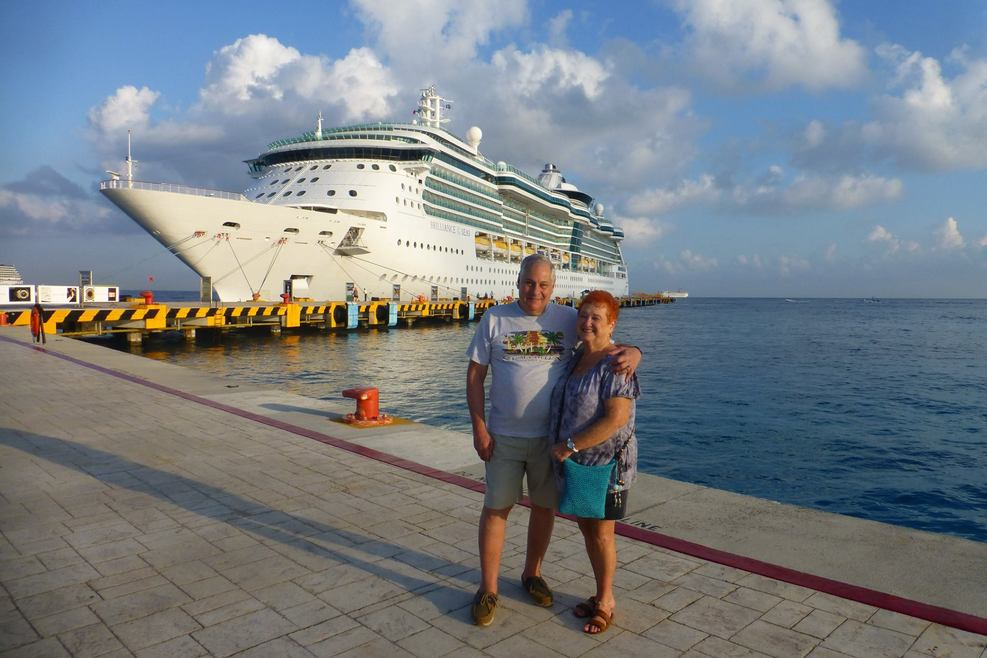Brilliance of the Seas docked in Cozumel.