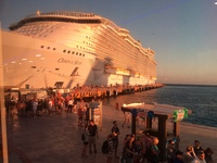 View of the ship at the port of Cozumel