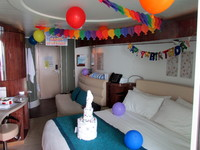 Cabin Decorated for Birthday