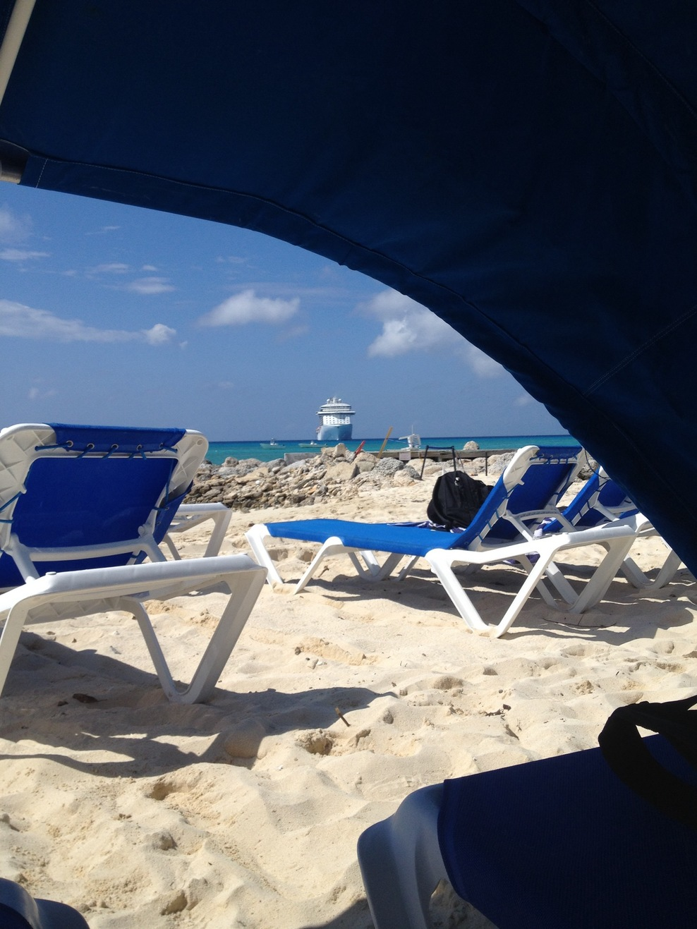 View from our beach clamshell.