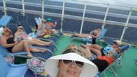 Sun bathing on Deck 18