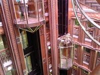 The glass lifts