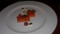 Salmon crudo, main dining room.