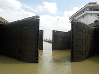 Panama locks opening