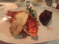 This is the surf and turf at Ocean Blue