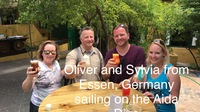 New friends from Germany sailing on the Aida Diva we met at the Chobolobo D