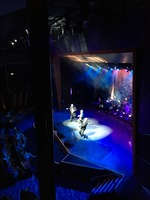 Balcony view of show in Coral theatre with obstructive view due to supporti