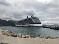 A view of the ship from Labadee