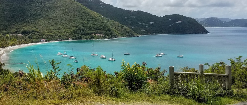 Cane Garden Bay overlook.  Tortola.  On the opposite side of the island fro