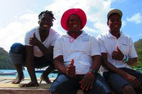 Papa Irwin, Elijah, & Jameson our tour guides and captain in St. Lucia