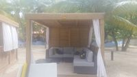 Beach cabana at Columbus Cove