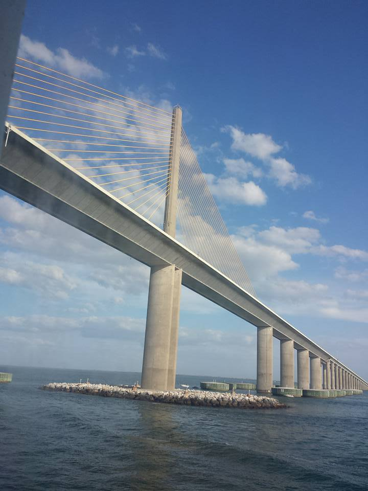 The Sunshine Skyway as we left Tampa.