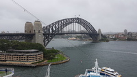 Sydney harbour bridge from berth.