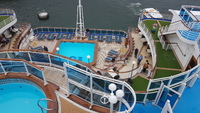 Pool and spa on aft deck.
