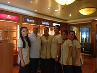 Mandara Spa staff......thank you ladies...Frank is officially a Spa King