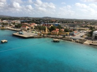 Curaçao port view from ship