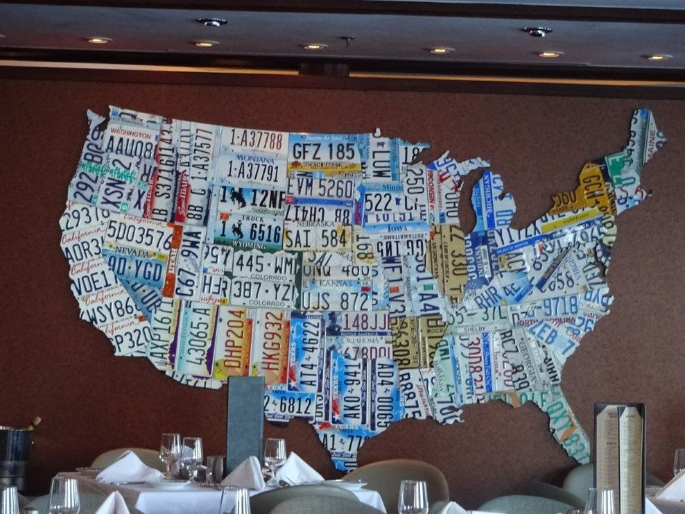 This is on of eight license plate maps of the United States in the ...