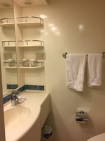 The bathroom of our cabin.