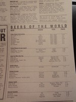 Beer List at the English Pub