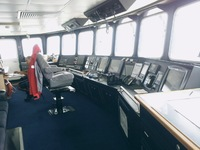 The bridge, the captain's domain,is the cockpit of the ship. The Coral