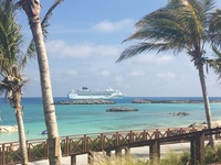 View of the Sky from Great Stirrup Cay from the Cabana