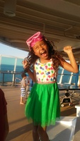 my little mermaid super excited to be on her first cruise