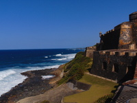View from inside Castillo San Felipe de Morro in Old San Juan.