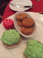 Green Eggs and Ham served at the Dr. Seuss Breakfast  in the Gold Olympian
