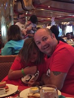 Family fun at the Dr. Seuss Breakfast in the Gold Olympian Dining Room on C