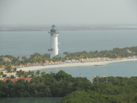 View of Belize - Harvest Caye from the ships upper deck
