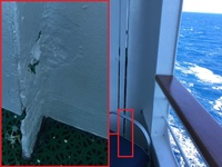 There is only so much that paint can fix...  Deck 10 Balcony Cabin. Again,